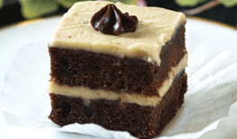 Chocolate Banana Cake with P-Nut Butter Frosting
