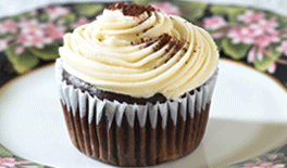 Chocolate Banana Cupcake with Banana Frosting